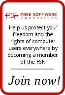 Soutenez la « Free Software Foundation »